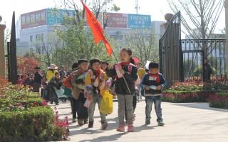 春天去哪里?近千名小学生踏春绿城·嵊州玉兰花园