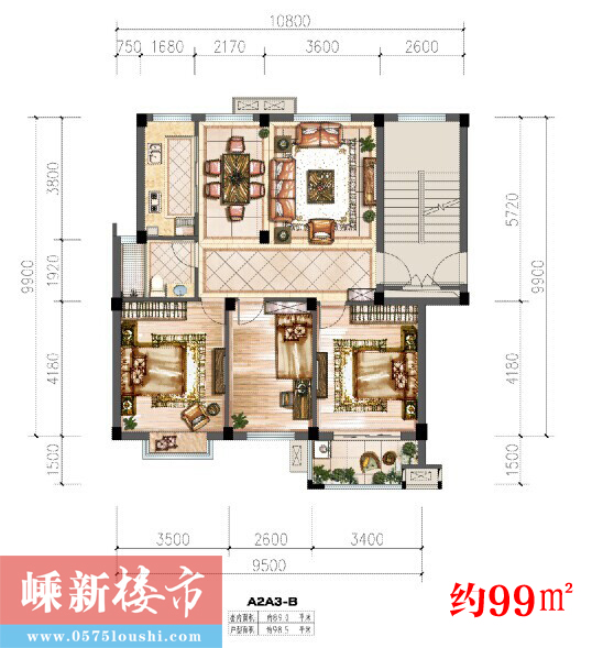 嵊州长乐福泉花园(上上城)户型图