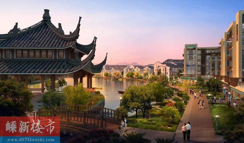 新昌中国茶市·潜溪老街效果图