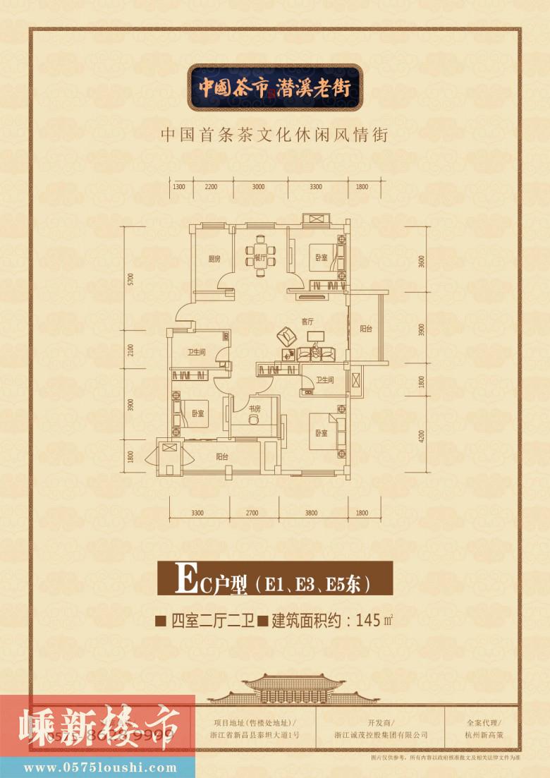 新昌中国茶市·潜溪老街户型图(点击查看原图放大)