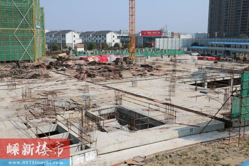 城东 | 嵊州和悦·时代广场3月中旬施工进度 (6)
