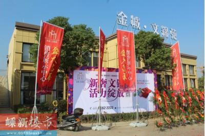 新昌金城·文锦苑售展中心11月5日正式开放
