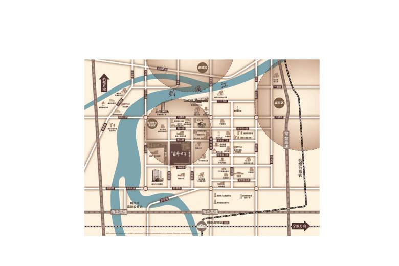 蓝光·雍锦世家交通图